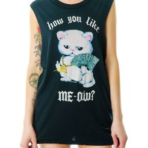 UNIF How You Like Meow? Cash Kitty Muscle Tank